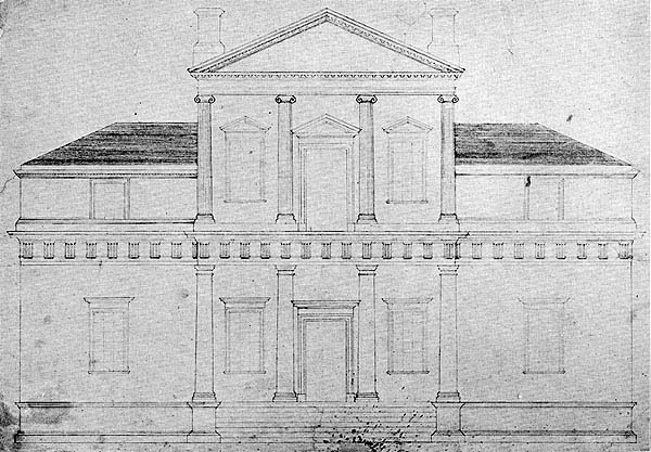 File:Monticello original front elevation drawing 1771.jpeg ...