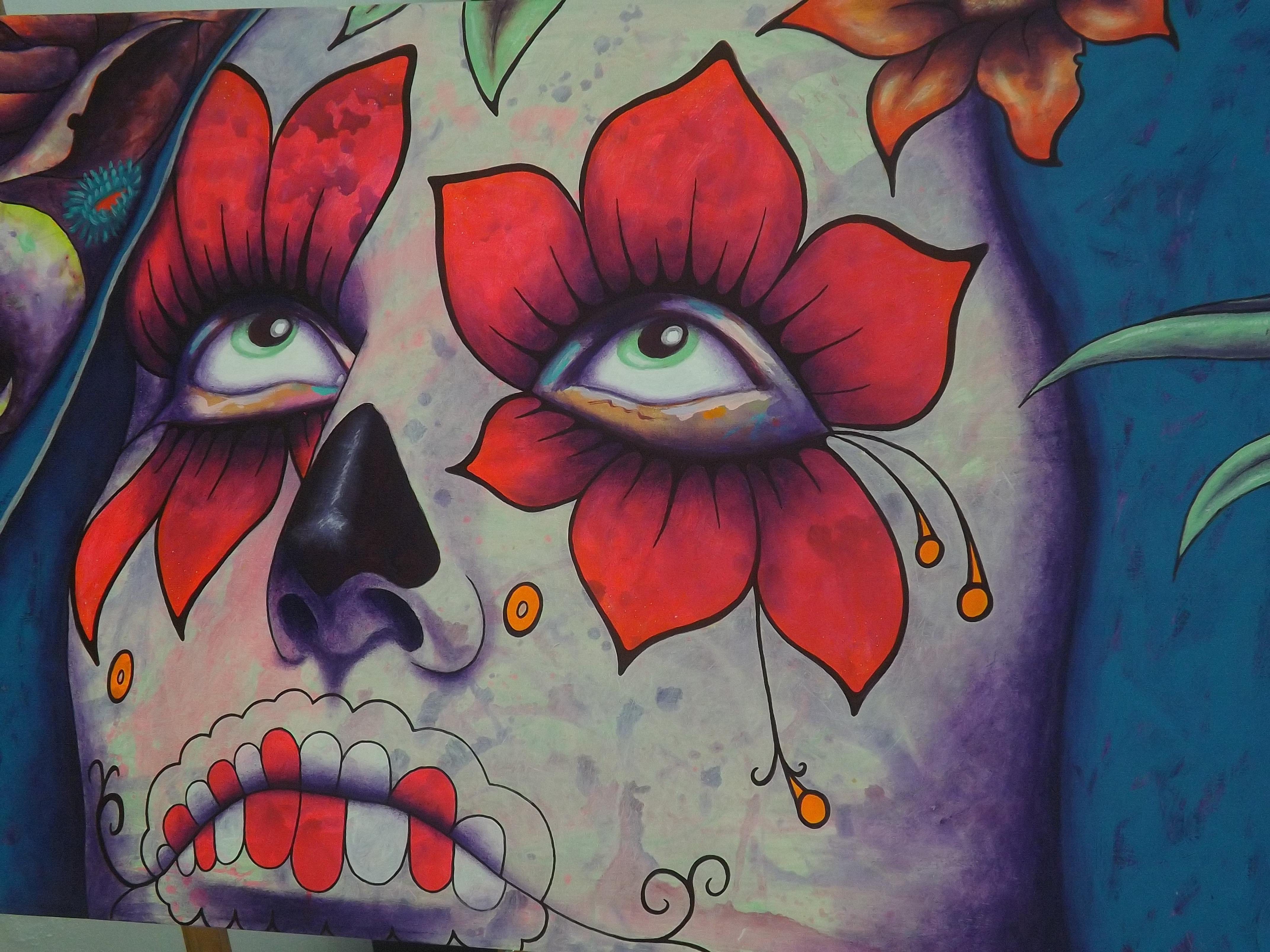 File mural d a de muertos jpg wikimedia commons for Dia de los muertos mural
