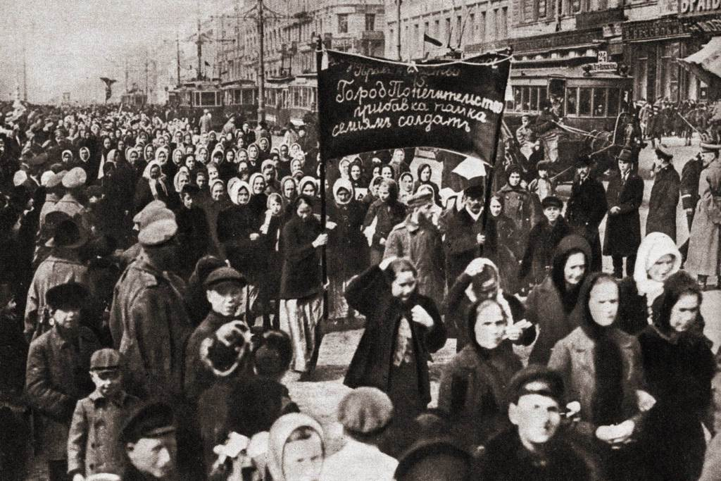 Women calling for bread and peace - Petrograd, 8th of March, 1917