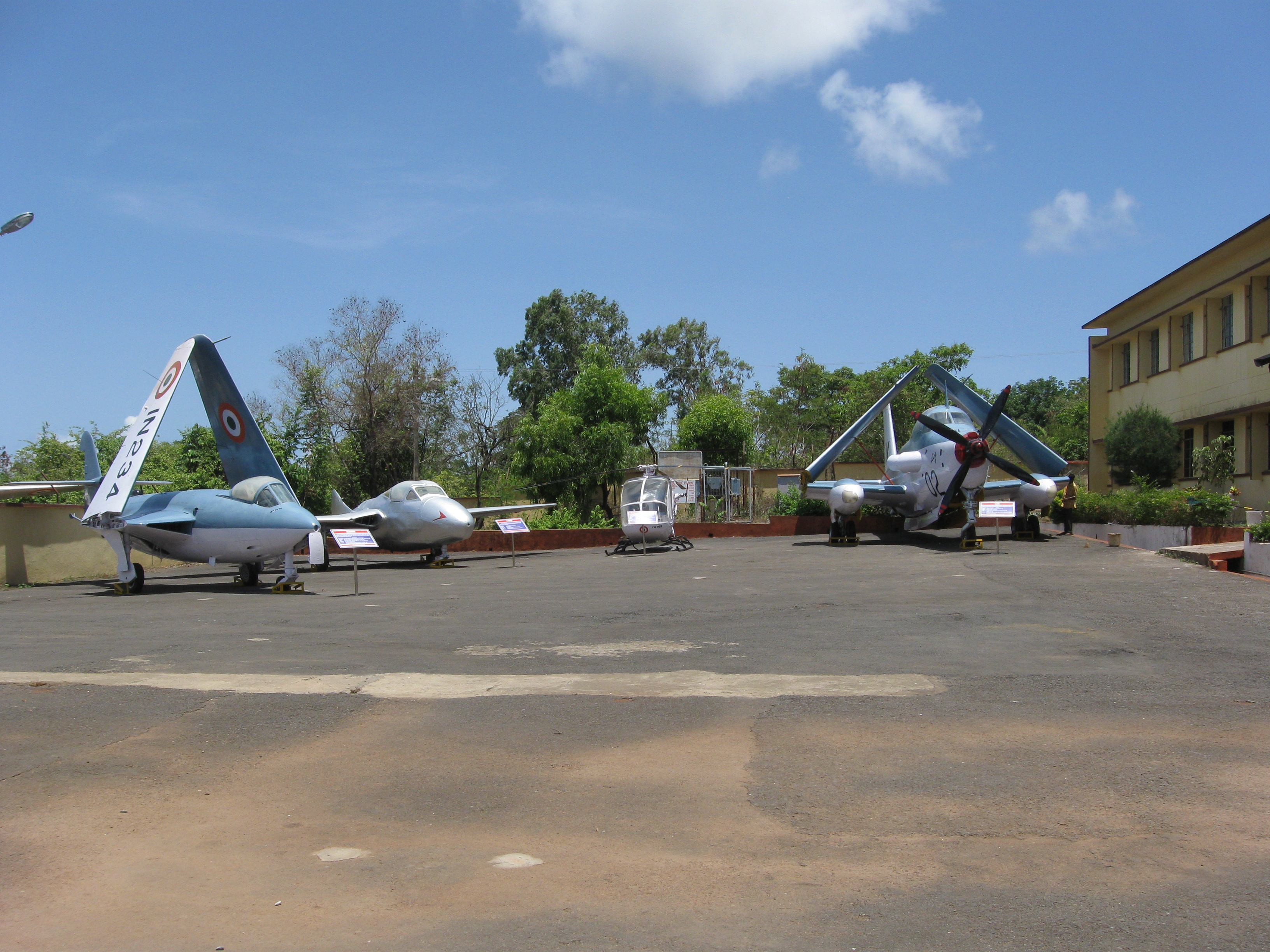 Decommissioned air-crafts at the Naval Aviation Museum, Goa.