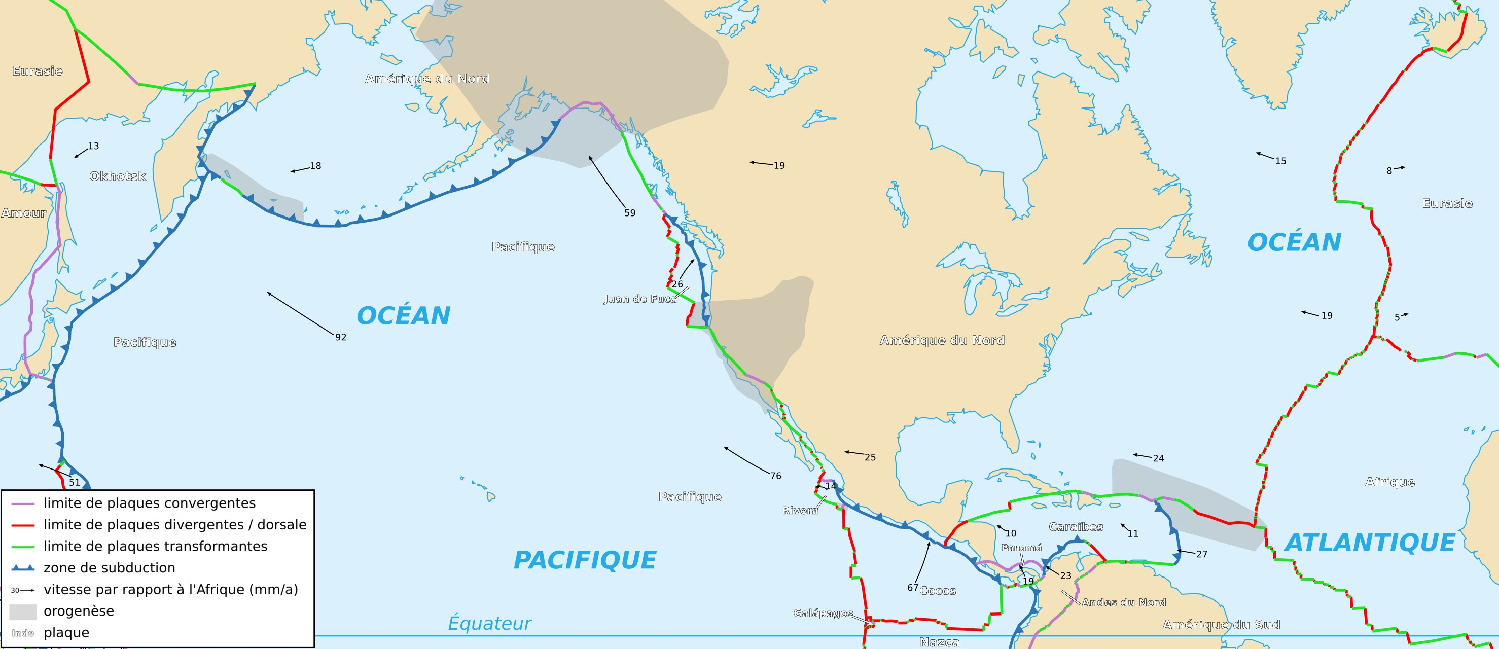 FileNorth American Plate Mapfrpng Wikimedia Commons - Map of us plate boundaries