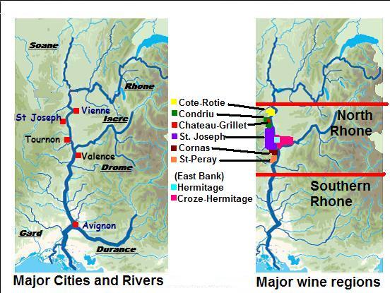 Карта-схема апеласьонов Северной чсати долины реки Рона