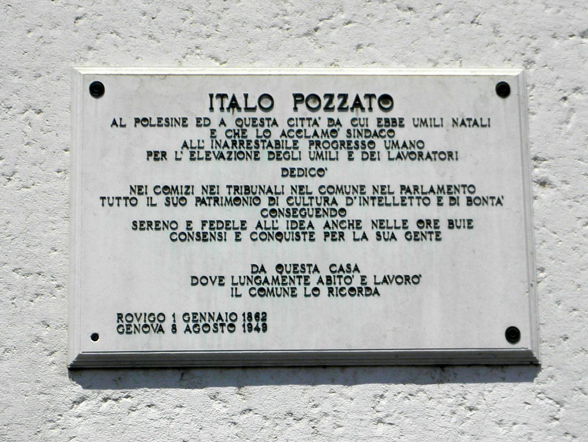 File:Palazzo Ravenna, plaque to Italo Pozzato (Rovigo).jpg ...