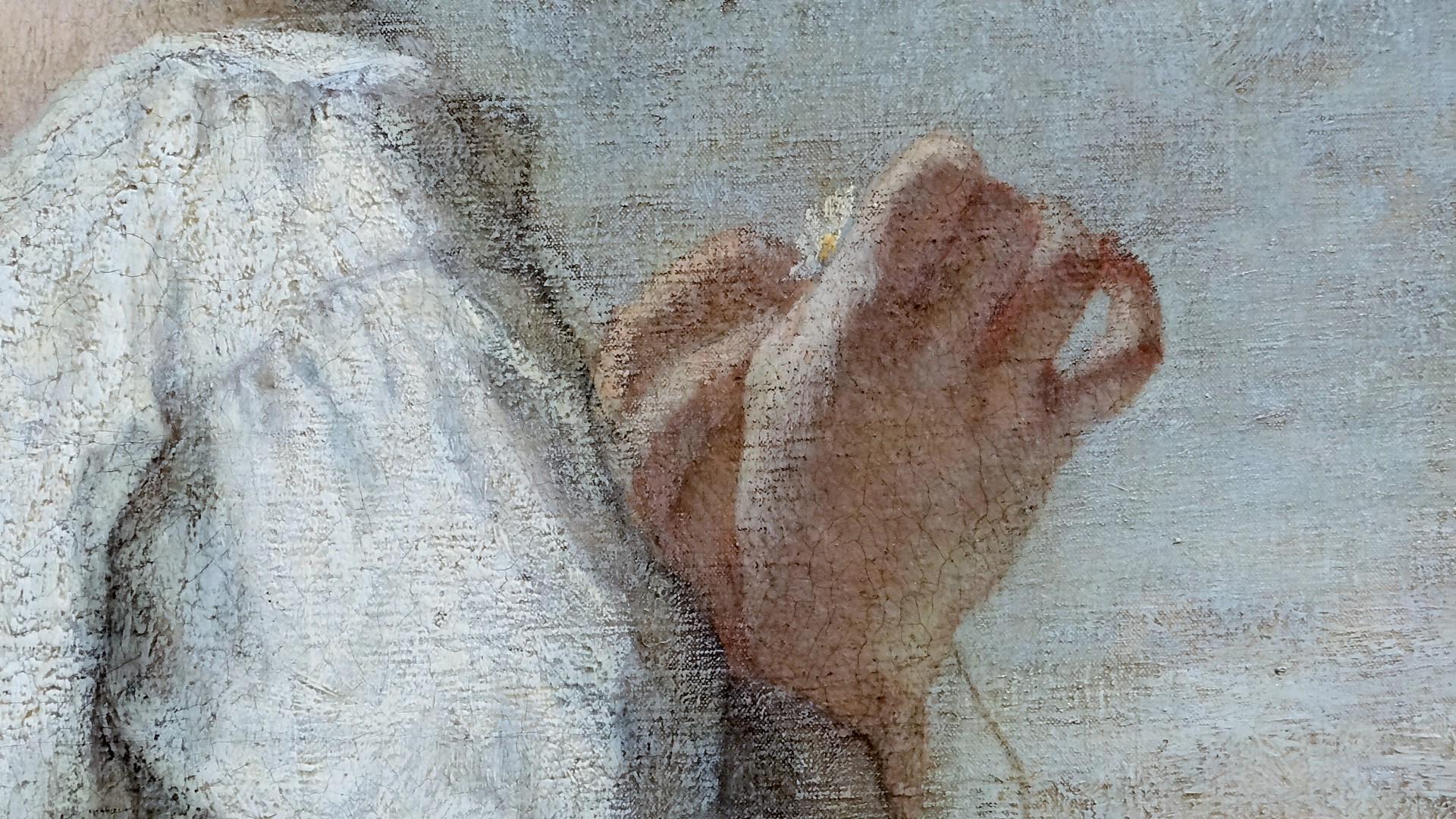 Paysanne, La Marguerite, de William Morris Hunt, huile sur toile, 1852.