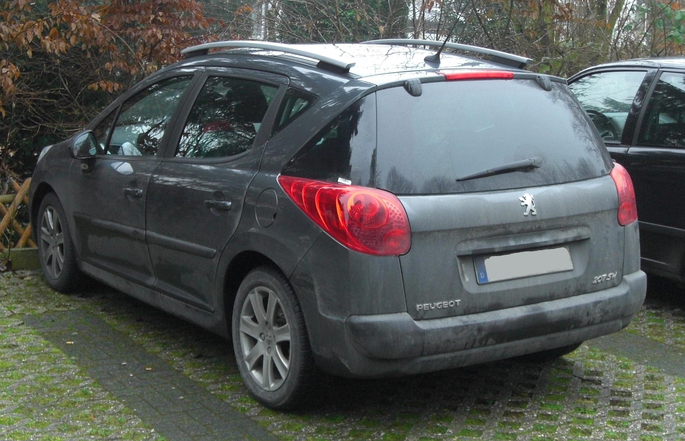 file peugeot 207 sw seit 2007 rear mj jpg wikimedia commons. Black Bedroom Furniture Sets. Home Design Ideas