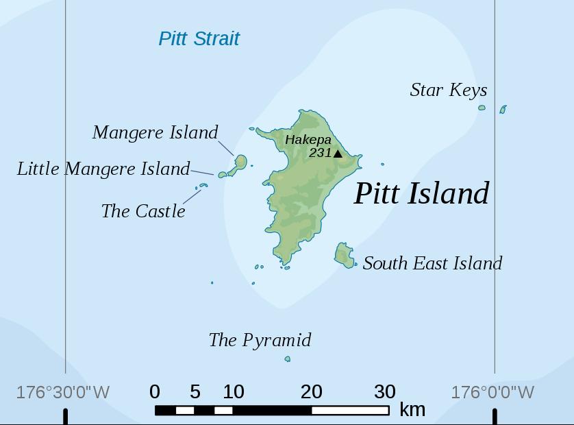 Pitt Island Map