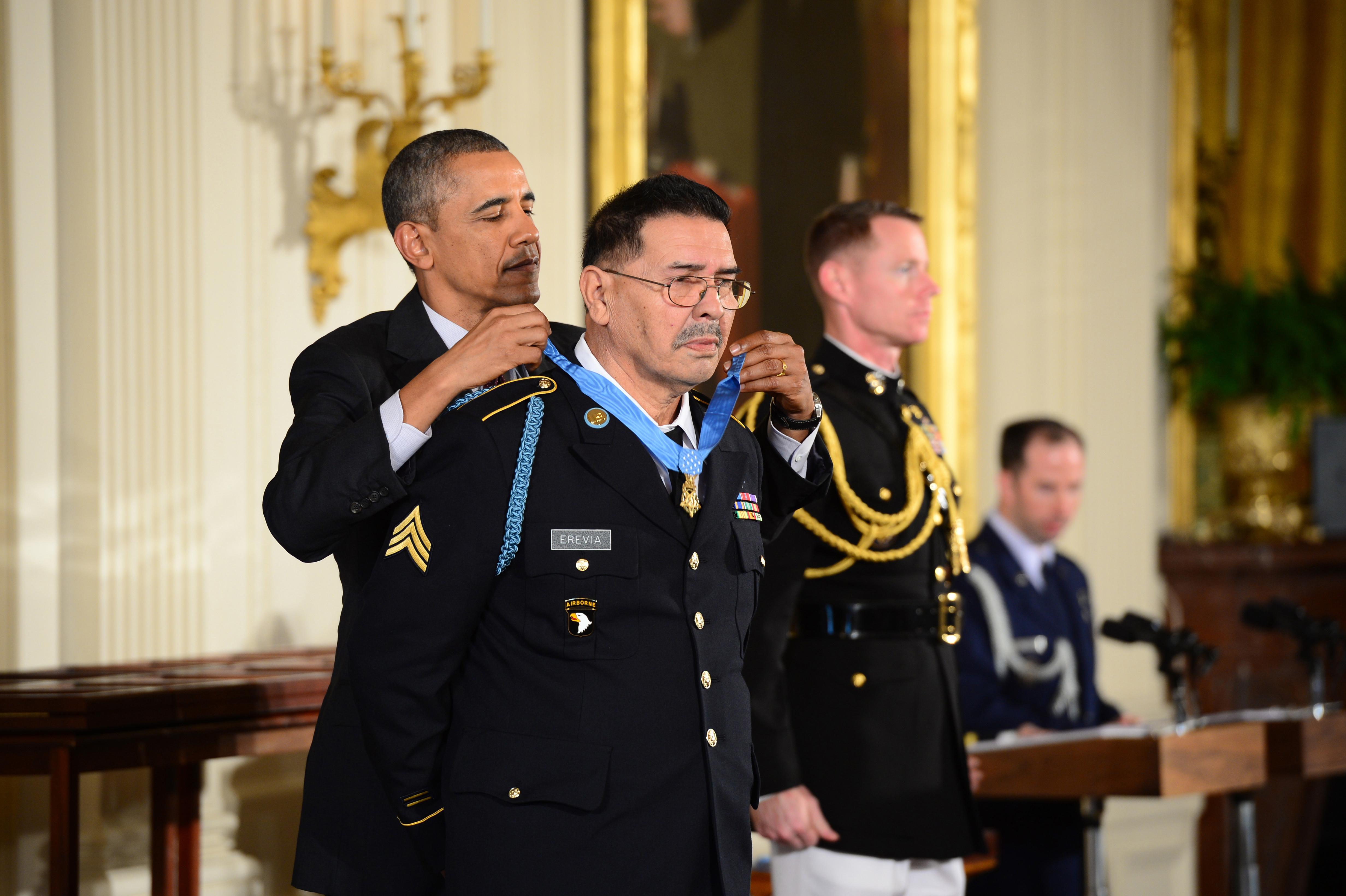 File:President Barack H. Obama, left, presents a Medal of ...