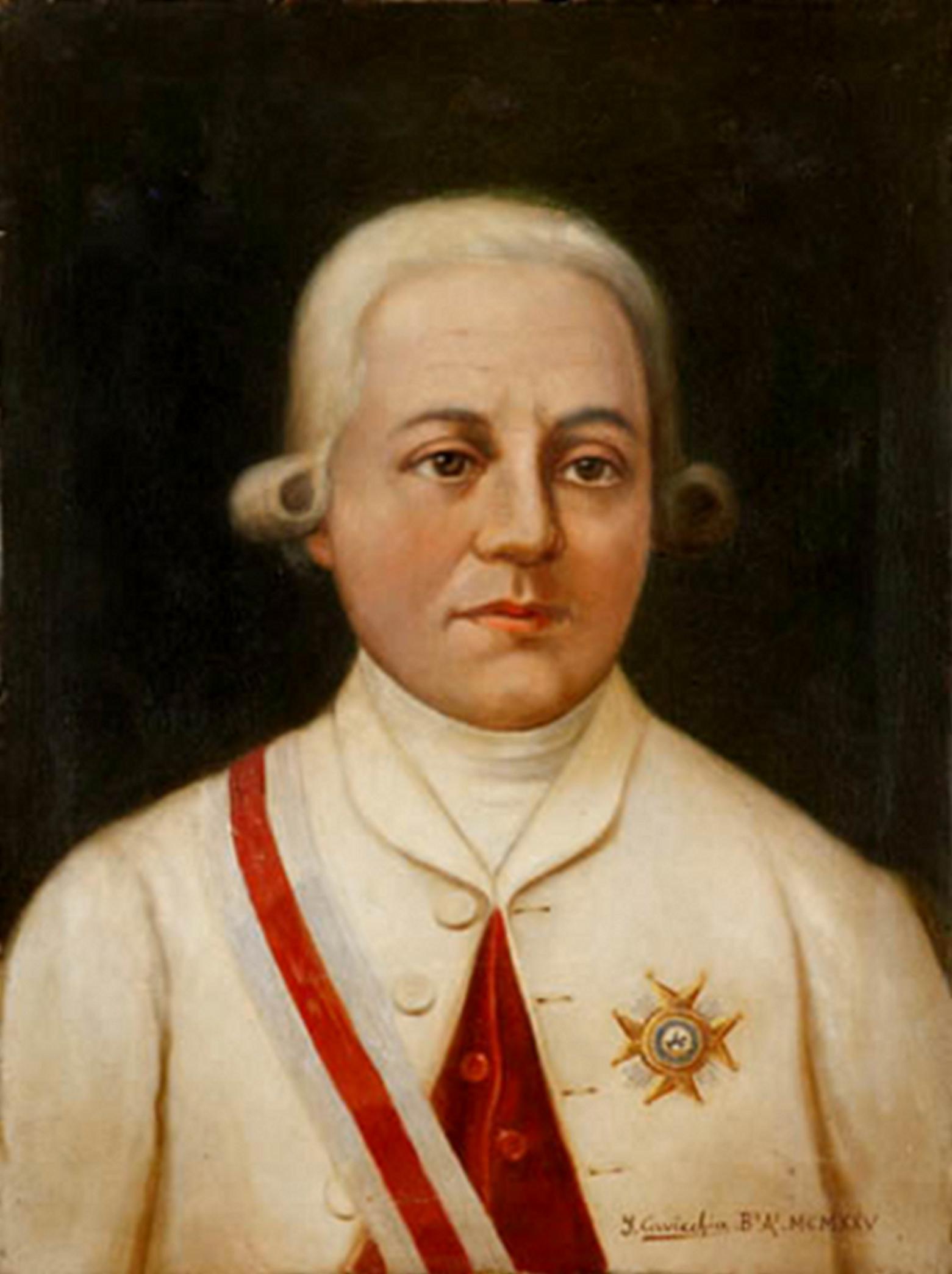 Depiction of Rafael de Sobremonte