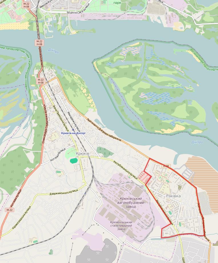 FileRakivka At Kremenchuk Mappng Wikimedia Commons - Kremenchuk map
