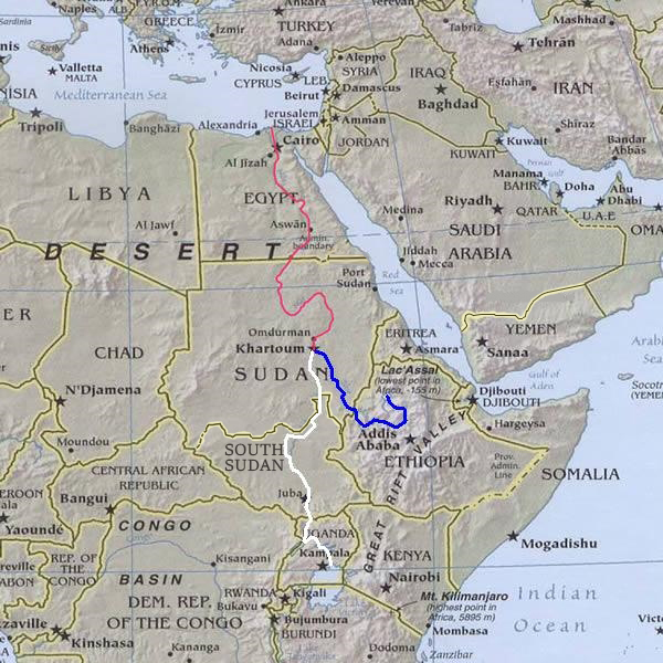 River Nile route