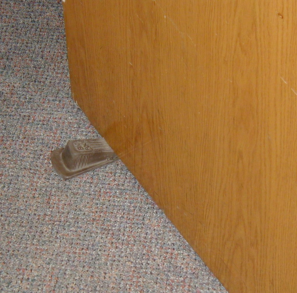 wedge l for rubber doors door stop and