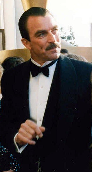 Tom Selleck on the red carpet at the 1989 Acad...