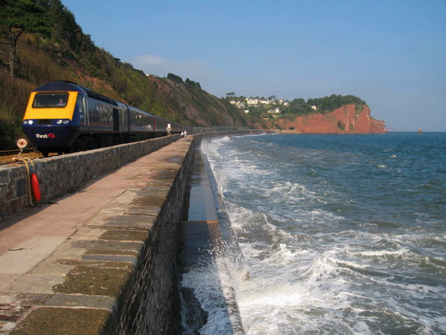 South Devon Railway Sea Wall - geograph.org.uk - 578783