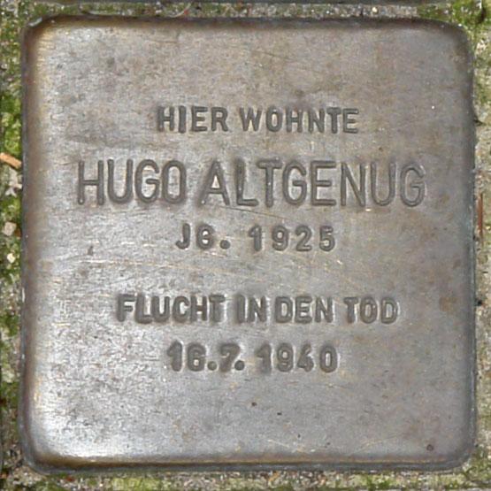 Stolperstein HB-Charlottenstr. 28 - Hugo Altgenug - 1925.jpg