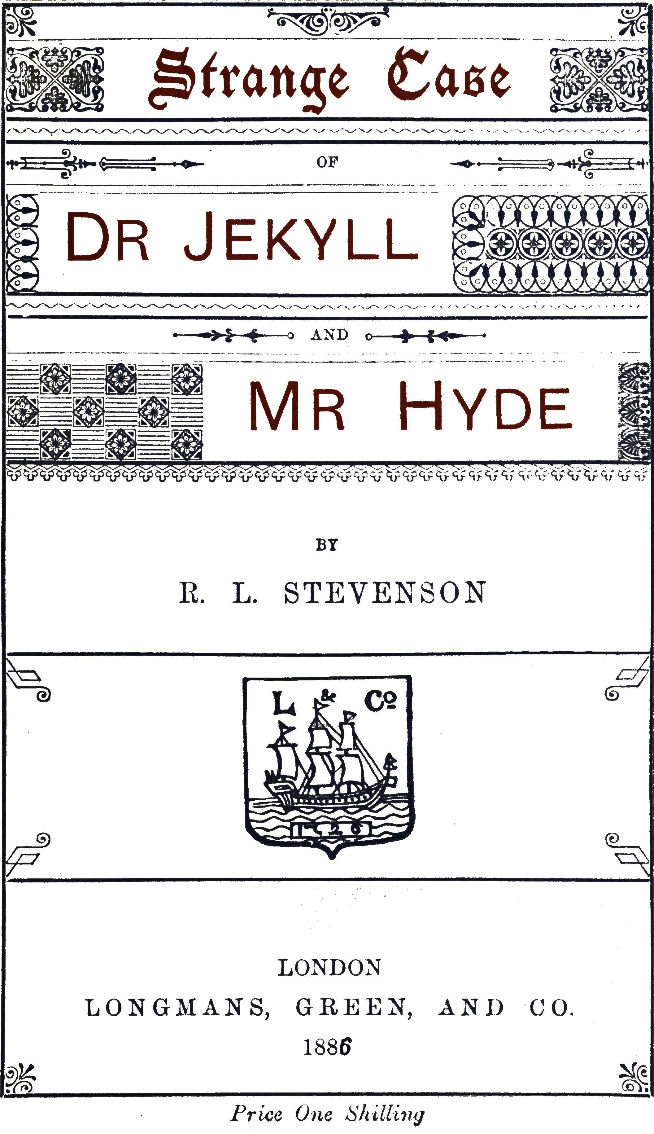 Strange Case of Dr Jekyll and Mr Hyde - Wikisource, the free online library
