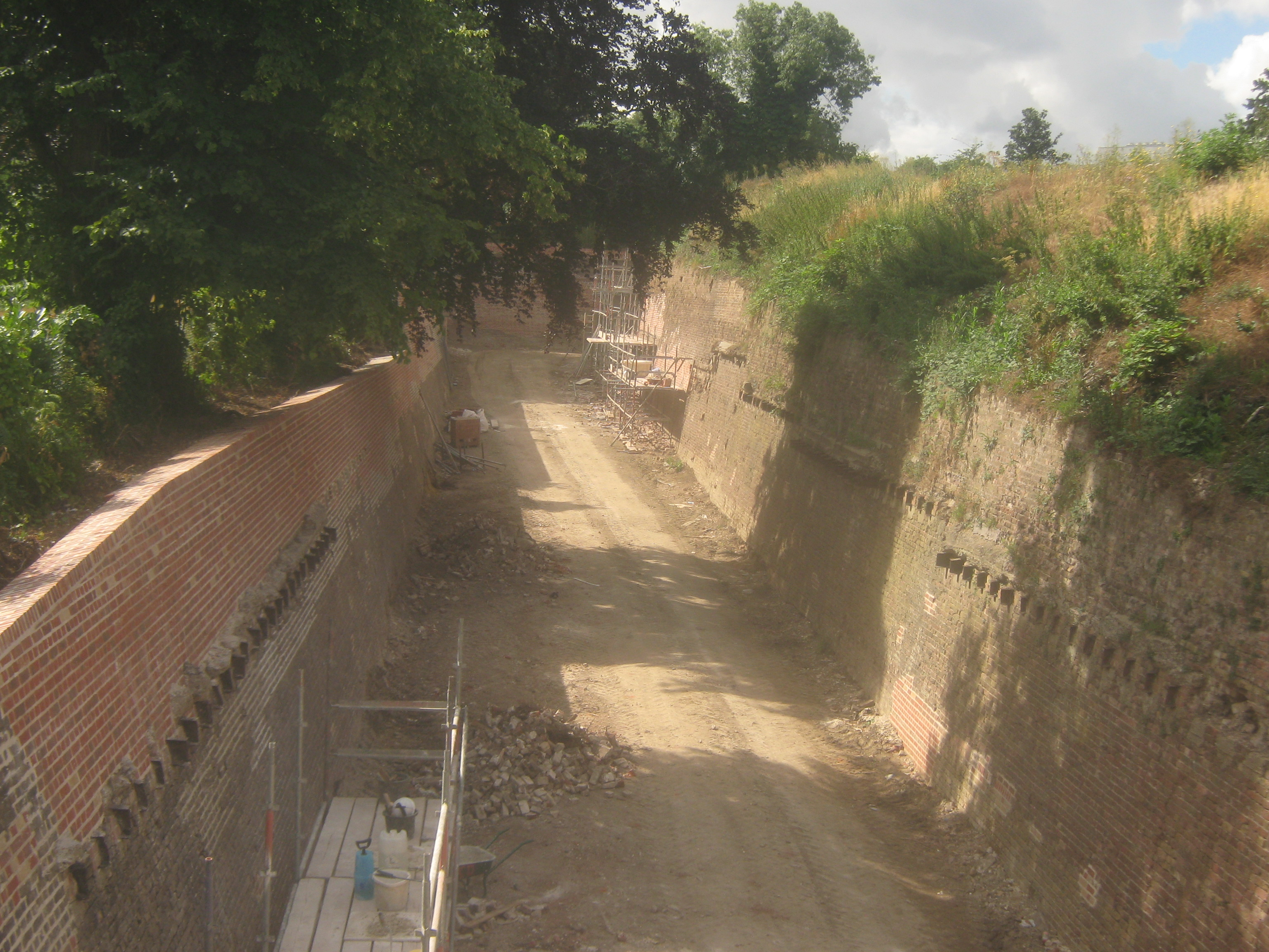 File The Chatham Lines Fortification Ditch Undergoing