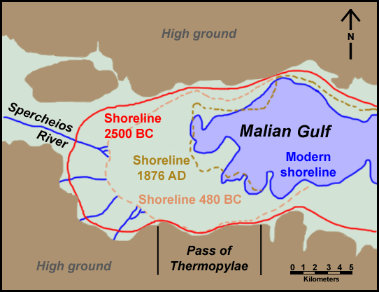 Thermopylae and Malian Gulf shoreline