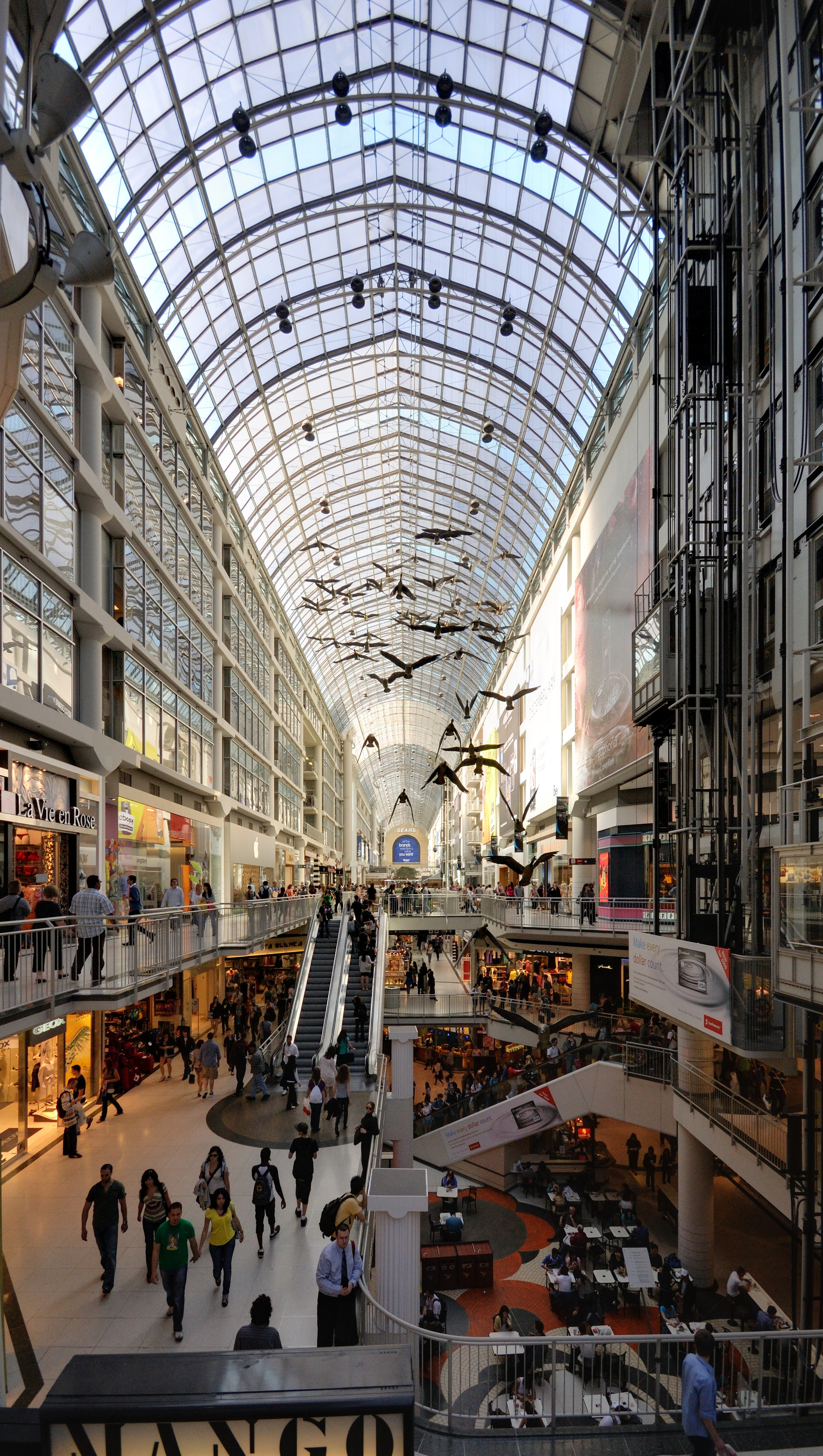 Take A Look Around Eaton Centre Largest Mall In Downtown