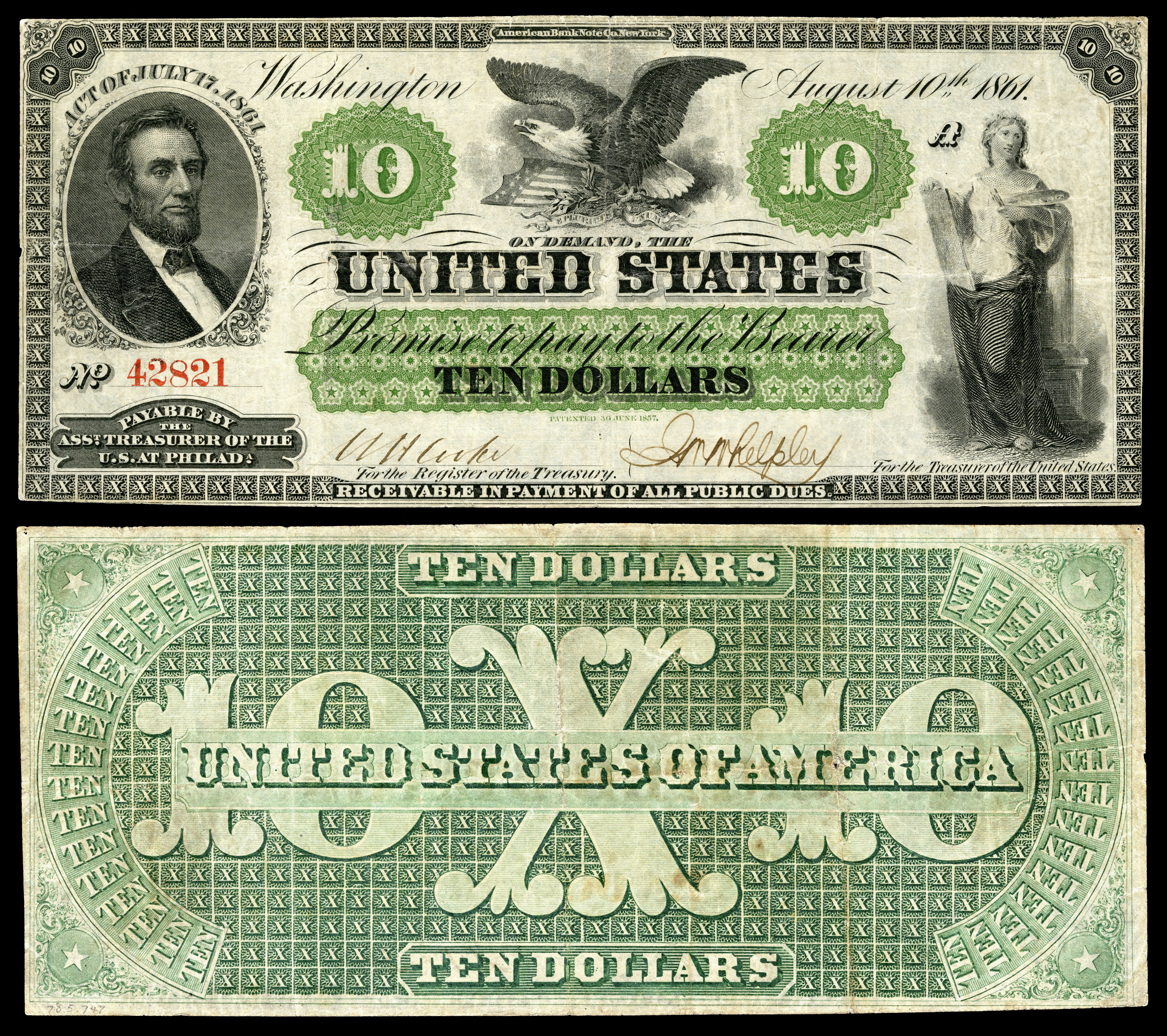 Domination of us paper money