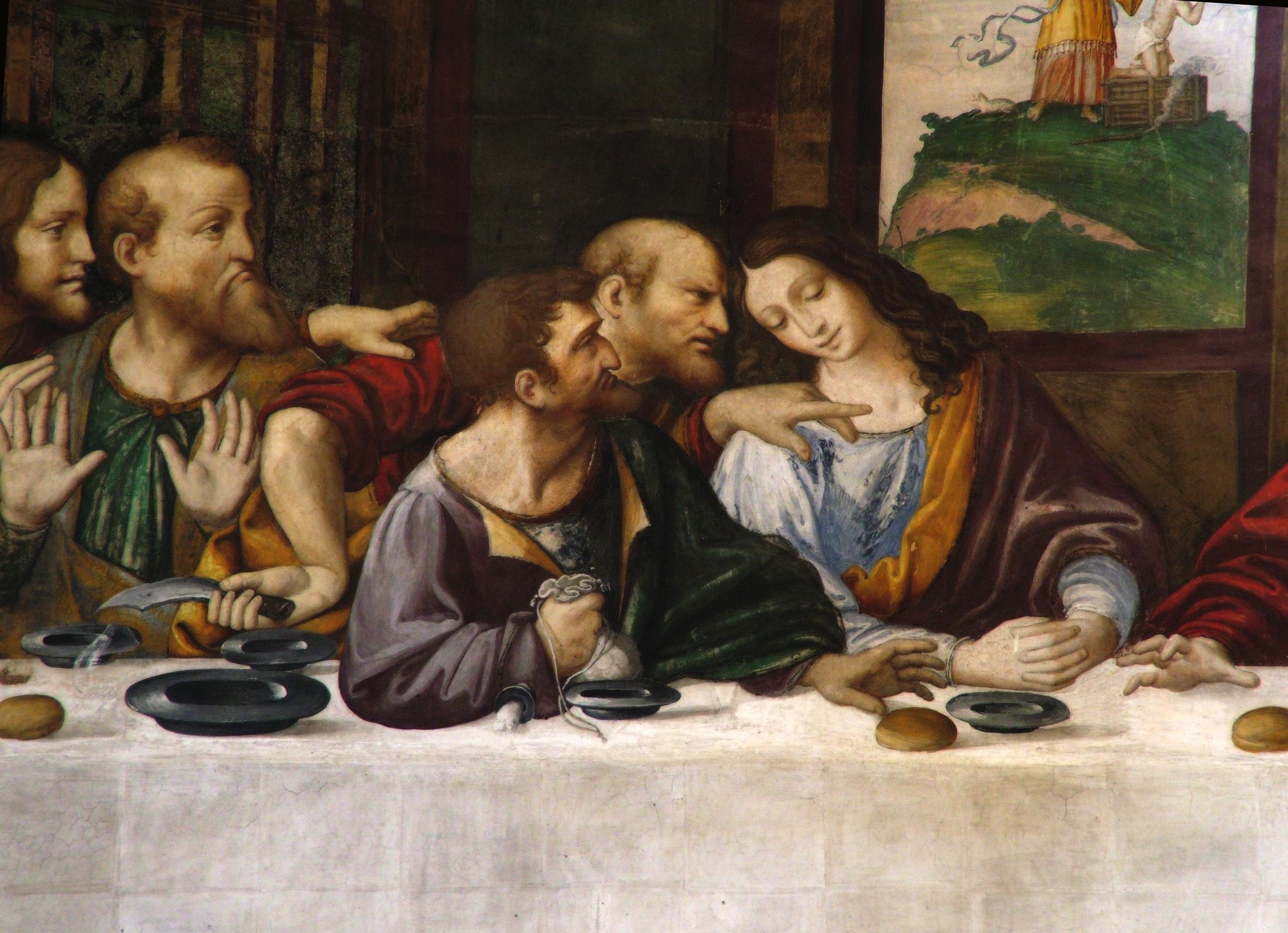 File:Ultima Cena (copia) - dettaglio.jpg - Wikimedia Commons Da Vinci Last Supper Restored