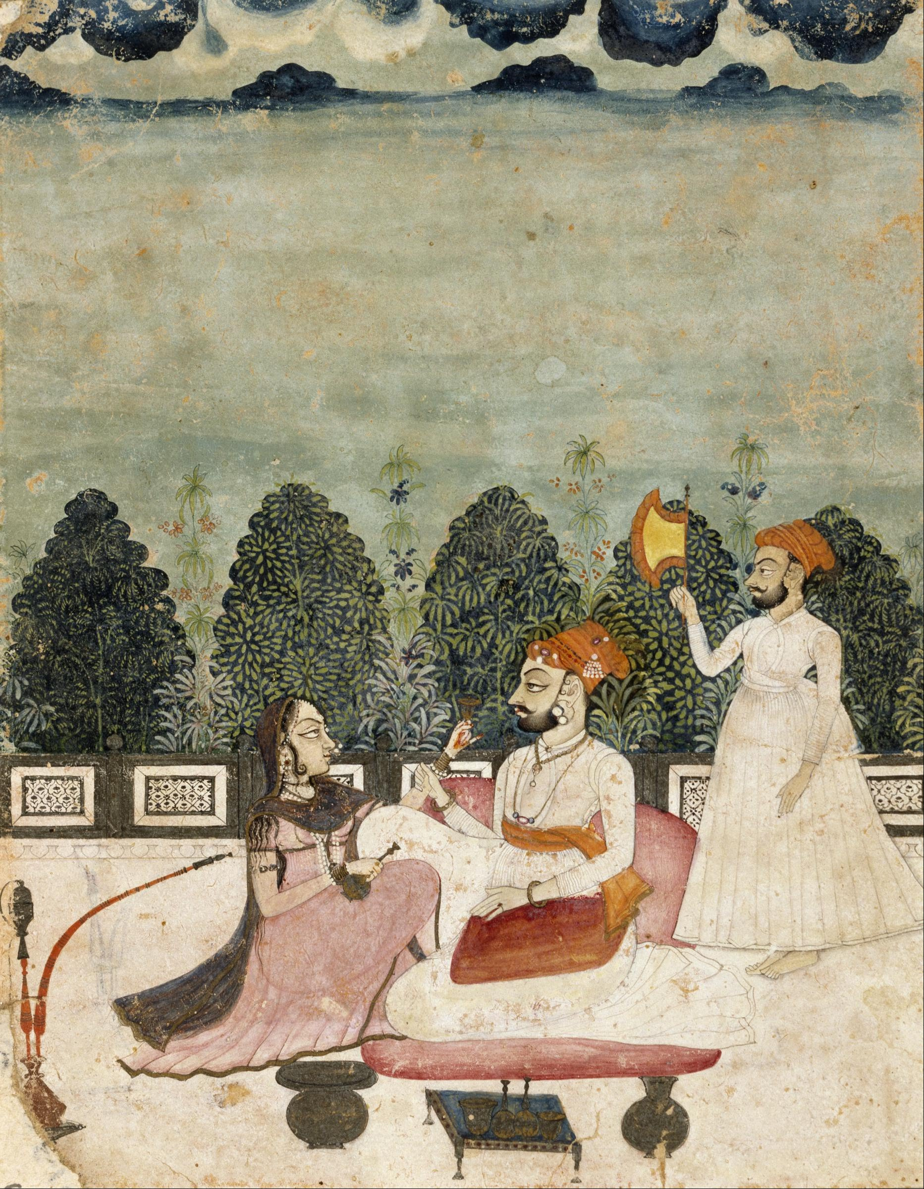 Fileunknown Indo Persian Untitled Two Men And Woman On Terrace
