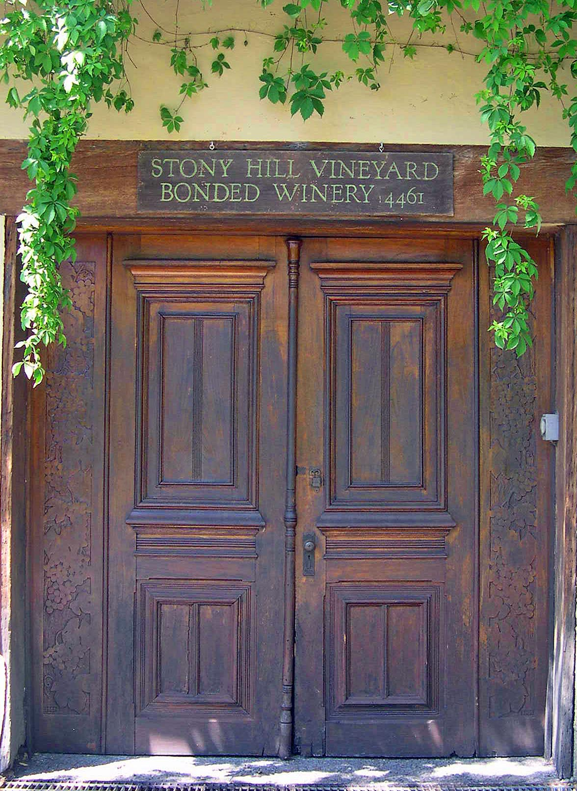 FileWinery Doors of Stony Hill Vineyard.jpg : winery doors - pezcame.com