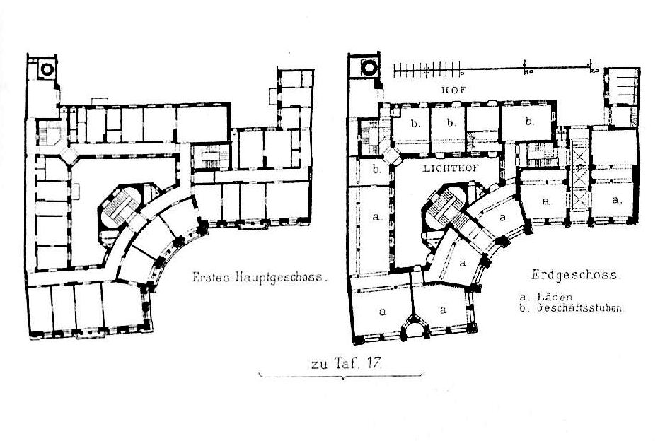 file wohn gesch ftshaus promenadeplatz 16 m nchen architekt professor fr thiersch tafel 17. Black Bedroom Furniture Sets. Home Design Ideas