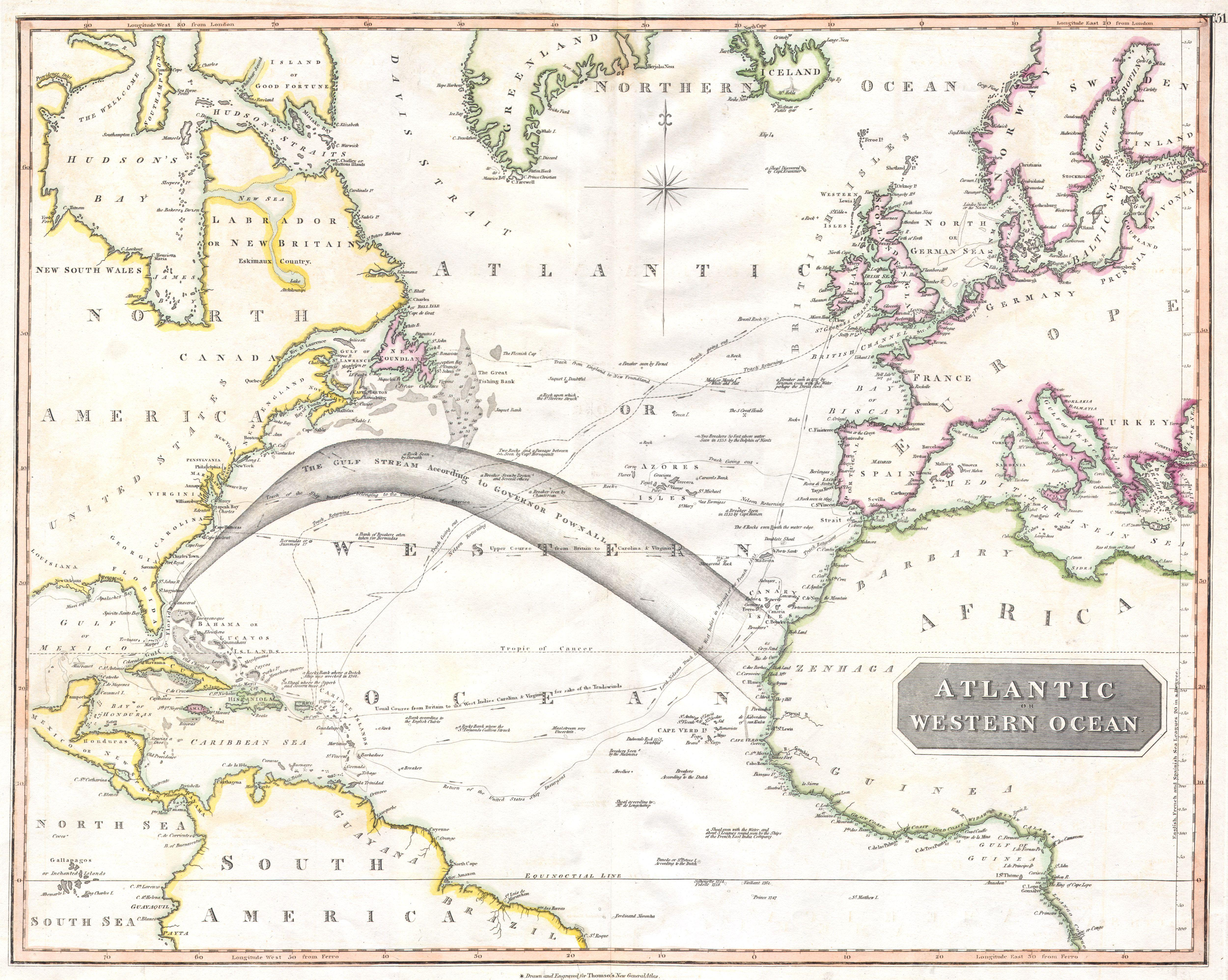 File1814 Thomson Map of the Atlantic Ocean  Geographicus