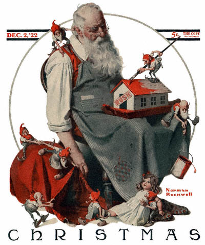 1922-12-02-Saturday-Evening-Post-Norman-Rockwell-cover-Christmas-Santa-with-Elves-no-logo-400.jpg