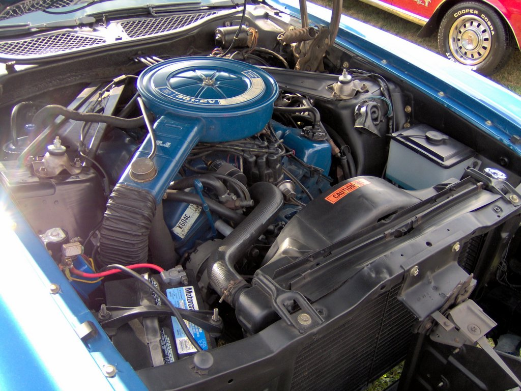 chrysler 360 marine engine wiring diagram with File 1973 Ford Mustang Convertible 351 2v Cleveland on Showthread likewise Discussion T42326 ds796902 in addition Four Stroke Engine further Forum posts together with Chevy 2 8l Engine Diagram.