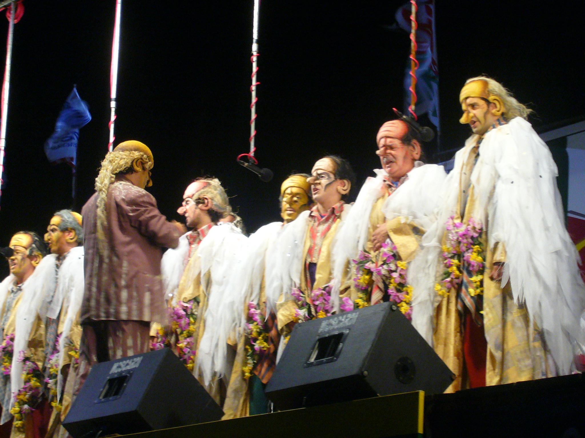 Agarrate Catalina en el carnaval de 2008, murga formada por Tabaré, Yamandú y Tanco en abril de 2001.