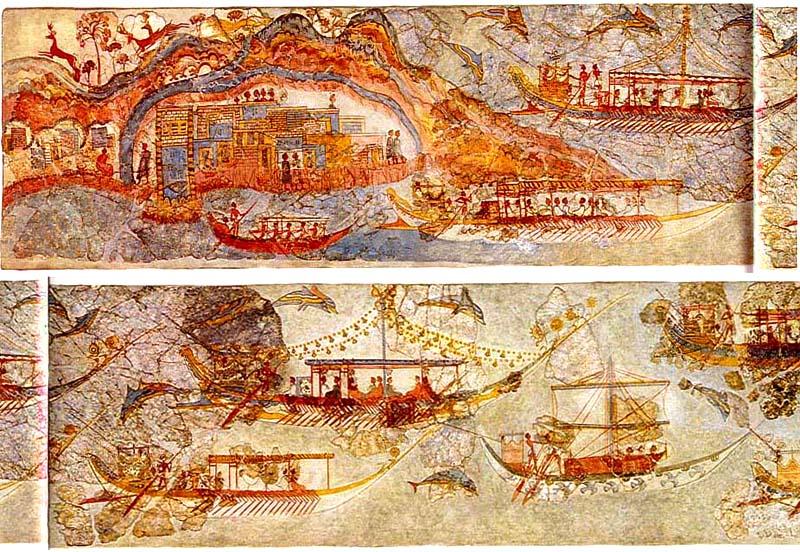 Akrotiri ship-procession-full 01