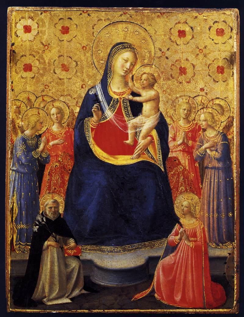 Angelico, amestà con san domenico e santa caterina d'alesandria.jpg