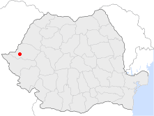 Location of Arad, Romania