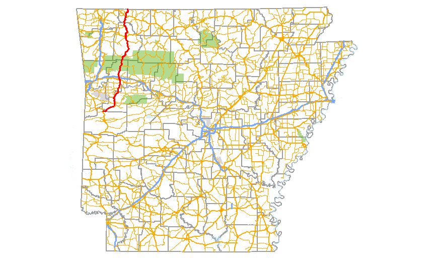 The Pig Trail Arkansas Map.Arkansas Highway 23 Wikipedia