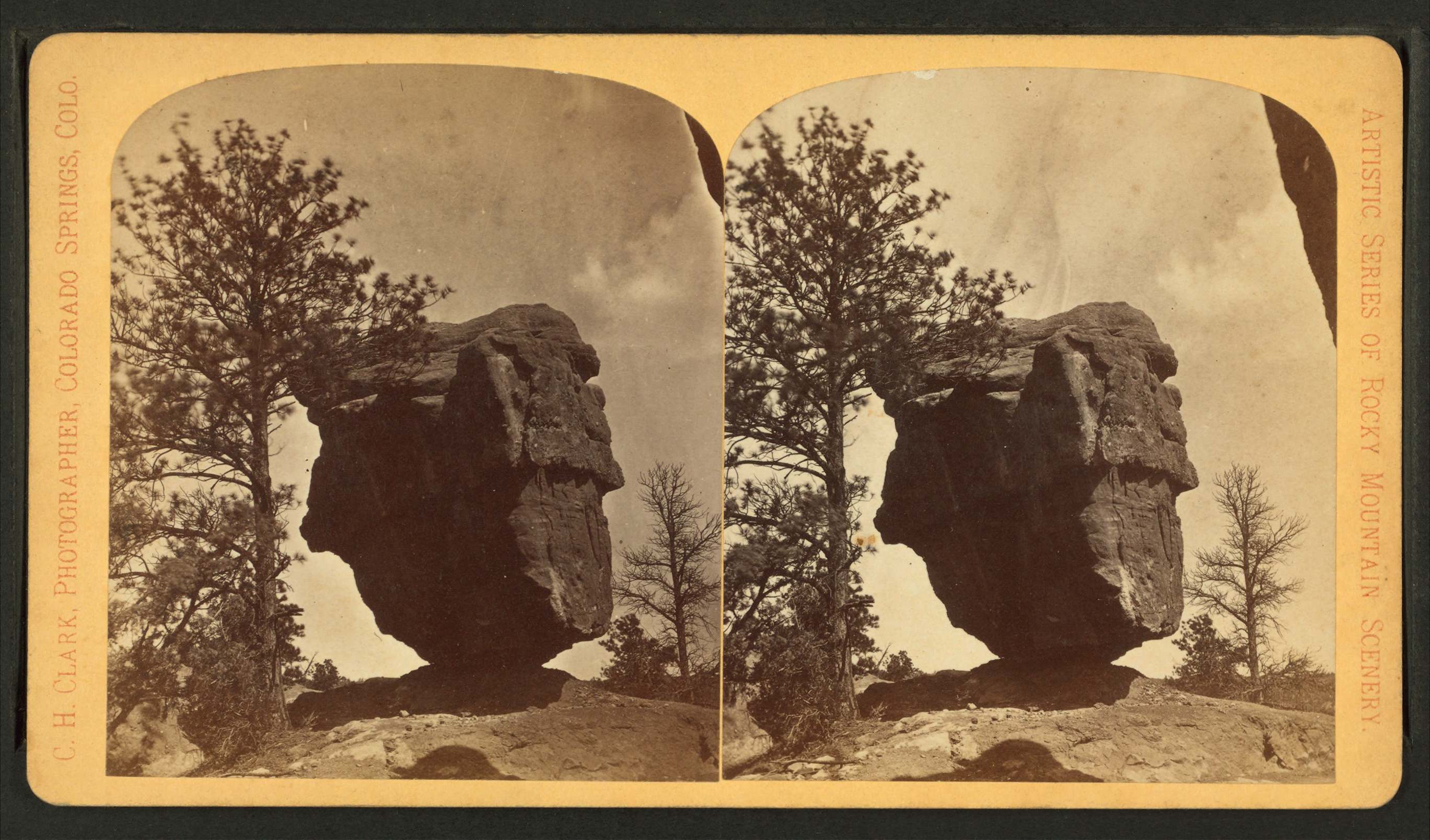 File:Balancing Rock. Garden of the Gods, located five miles from ...