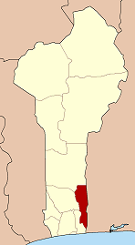 Map highlighting the Plateau Department