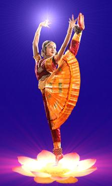 A Bharatanatyam dancer