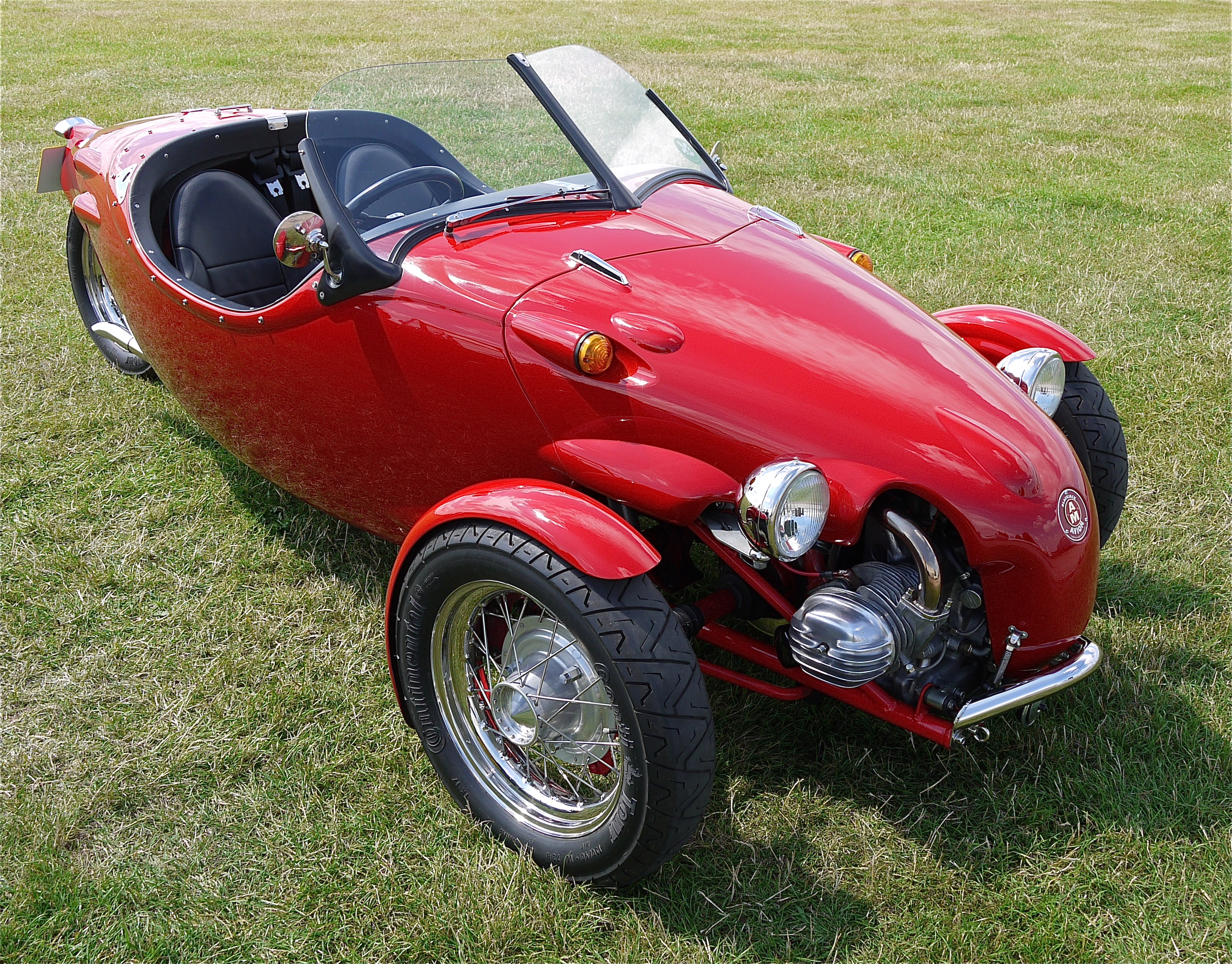 Red two-seater car