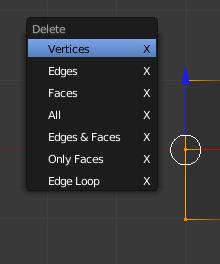 how to delete multiple vertices in blender