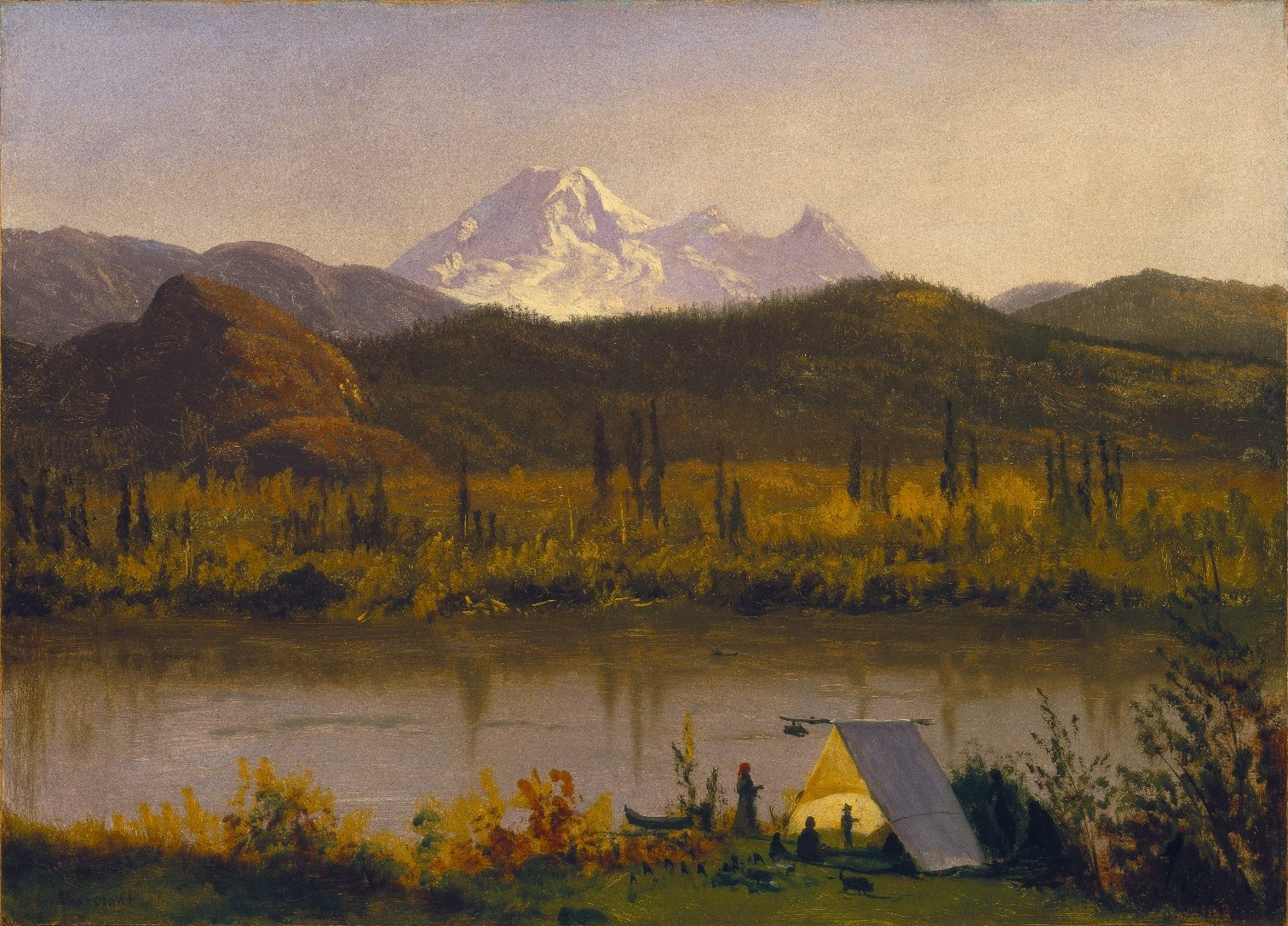 File:Brooklyn Museum - Mt. Baker, Washington, From the Frazier River - Albert Bierstadt - overall.jpg