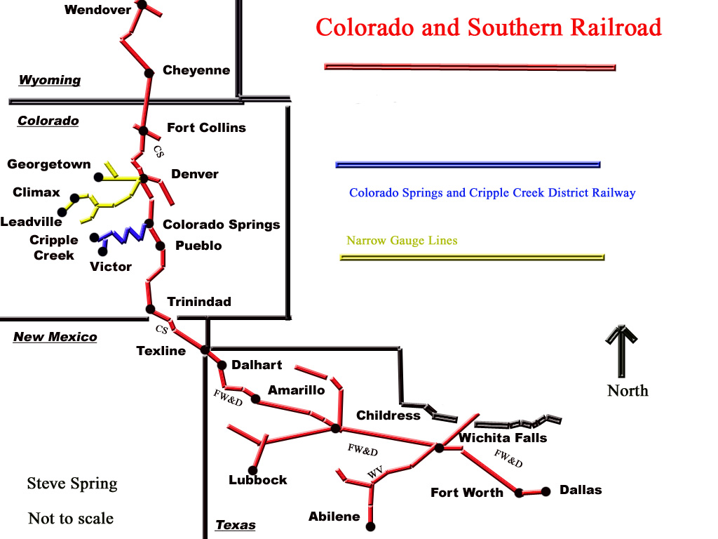 Colorado And Southern Railway Wikipedia - Southern railway us map
