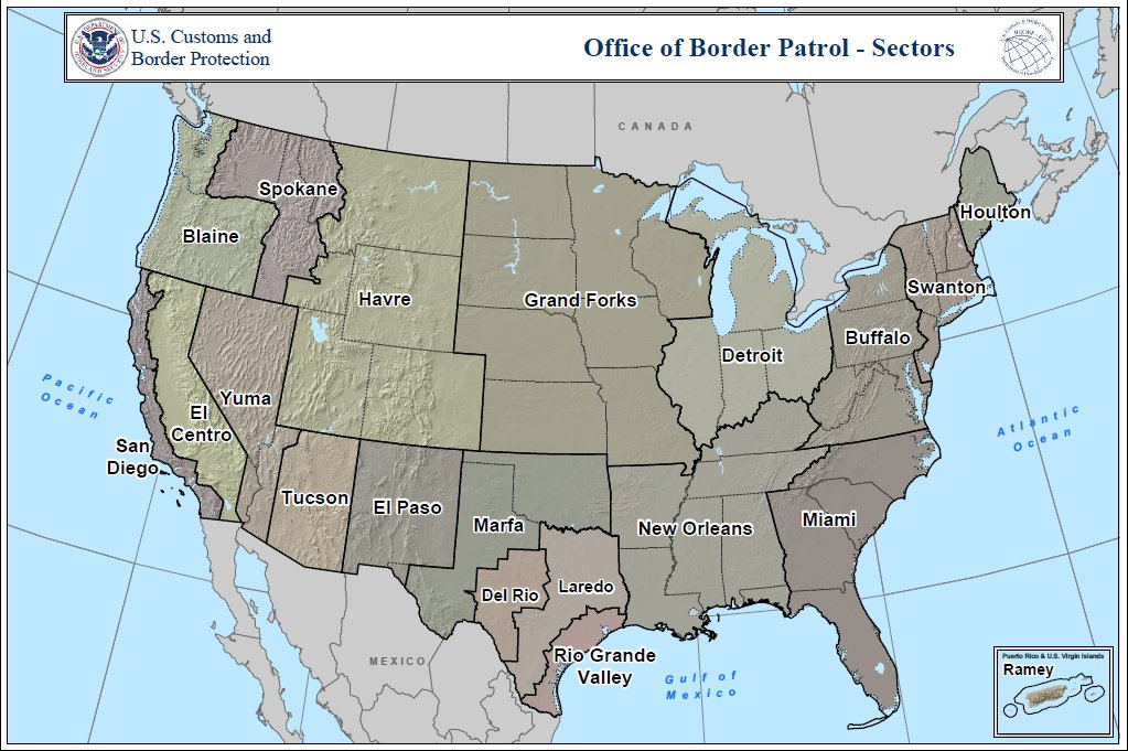 Data Looking For A Shapefile Of The US Southwest Border Sectors - Us map shapefile