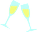 Toasting with Champagne illustration