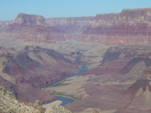 The Colorado River from Tanner Trail
