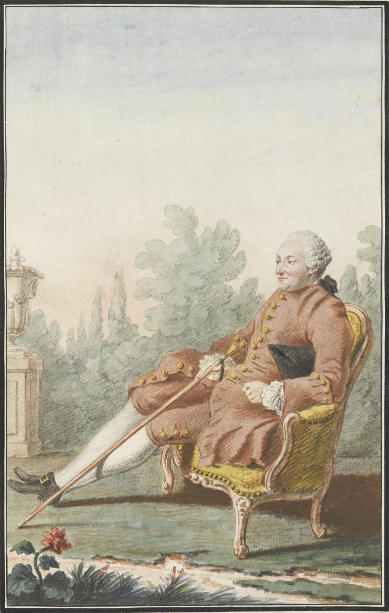 Louis Carmontelle. Baron d'Holbach. 1766