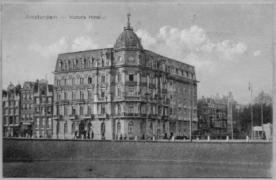 File Damrak Victoria Hotel Amsterdam Ansichtkaart Jpg