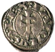 File:Dinero aragonés de Jaime I el Conquistador (reverso).jpg