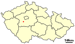Dobris Czech town location 2.png