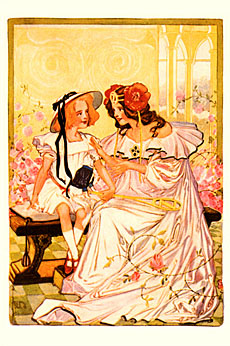 """Dorothy and Ozma"", a watercolor plate from the book"